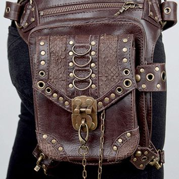 Atomic Brown Leather Holster Bag