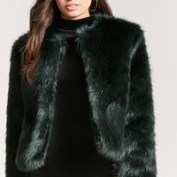 Two-Tone Faux Fur Jacket