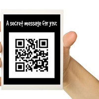 QR Secret Message 5 x 7 Greeting Card to by TheWallaroo