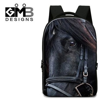 Boys bookbag trendy Horse Print School Backpacks with Computer Interlayer, Laptop Back pack for 14 inch, for school,college book bags AT_51_3