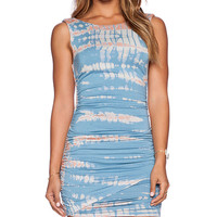 Gypsy 05 Bamboo Shirred Wrap Dress in Blue