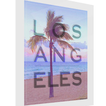 Los Angeles Beach Filter Gloss Poster Print Portrait - Choose Size