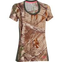 Under Armour Women's Charged Cotton Camo T-Shirt Short Sleeve Cotton