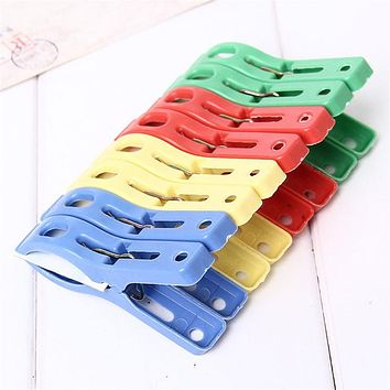 Set of 8 Beach Towel Clips in Fun Bright Prevents Towels Blowing Away levert dropship D711