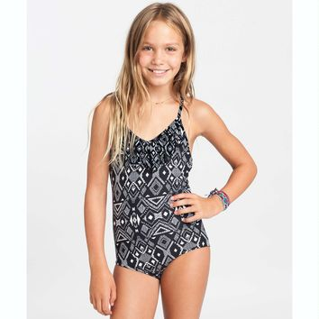 Billabong Girls' Wild Waves One Piece