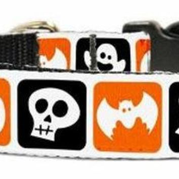 ONETOW Classic Halloween Nylon Ribbon Collar Medium