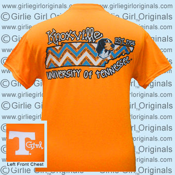 Tennessee T-Shirt: State Chevron (Short Sleeve) - $16.99 : Girlie Girl™ Originals - Great T-Shirts for Girlie Girls!