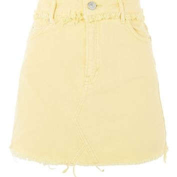 MOTO Yellow Denim Mini Skirt - Denim - Clothing