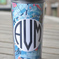 Lilly Pulitzer Monogramed Travel Mug, 16 oz. Personalized Coffee Mug With A Lid, On The Go Mug, Thermal Cup