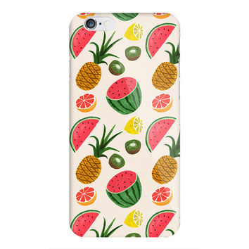 Tropical Fruit Medley iPhone 5 6 6s  Cover Case