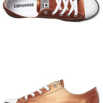 DCCK1IN converse chuck taylor all star dainty shoe blush gold black whi