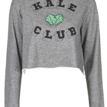 Kale Club Sweatshirt By Tee And Cake - Grey