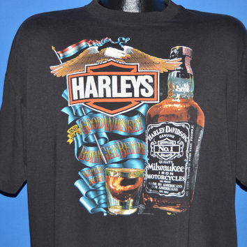 80s Harley Davidson Whiskey t-shirt Extra Large