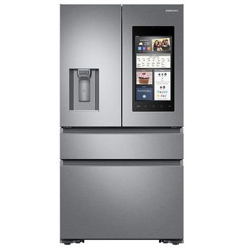 Samsung - RF23M8570SR/AA - 22 cu. ft. Counter-Depth 4-Door French Door Refrigerator with Family Hub and Recessed Handles - Stainless Steel | Sears Outlet