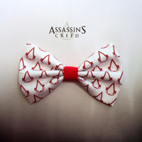 Assassin's Creed Inspired Hair Bow or Bow Tie