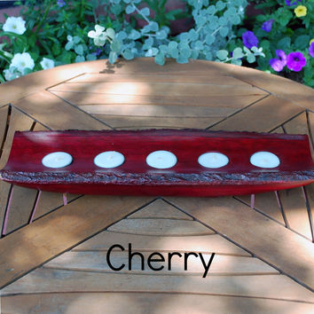 Bark Candle Holder Tray