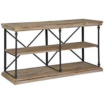 Crestview Collection La Salle Natural Wood and Metal Console - #19M89 | Lamps Plus