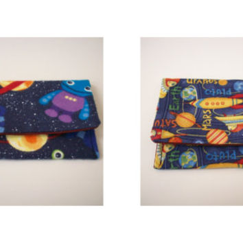Space Robots and Aliens or Planets Card Holder Credit or Gift Card Case Your Choice of One