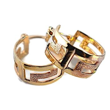 Tri-Color Earrings Hoops 18kts of Gold Plated