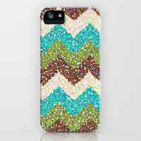 Messy Chevron iPhone Case by Elizabeth | Society6