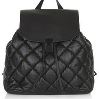 Soft Quilted Backpack - Black