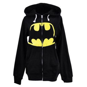 LMFUG3 The new foreign trade section of men and women lovers Batman hooded sweater coat sweater (Size: XL, Color: Black) = 1928000452