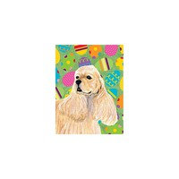 Caroline's Treasures Cocker Spaniel Easter Eggtravaganza House Flag