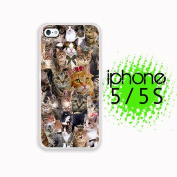 Fancy Cat Collage iPhone 5S Case | iPhone 5 Hard Case For iPhone 5  Plastic or Rubber Trim