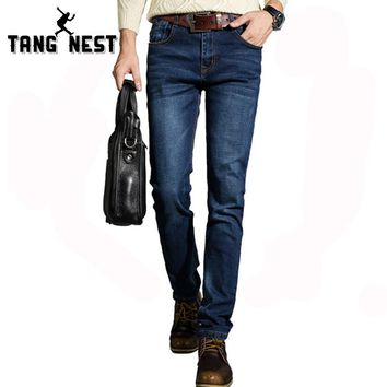 New Arrival 2017 Men's Slim Fit Light Wash Denim Jeans Casual Hot Selling Solid Fashionable Male Spring & Autumn Jeans MKN444