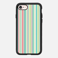 Candy Stripe Pastels iPhone 7 Case by Alice Gosling | Casetify