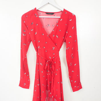 Thorn Rose Bud Dress Red Medium