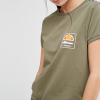 Ellesse | Ellesse Retro Fitted T-Shirt With Tape Detail at ASOS
