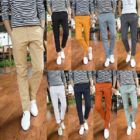 Slim Fit Men Fashion Casual Pants