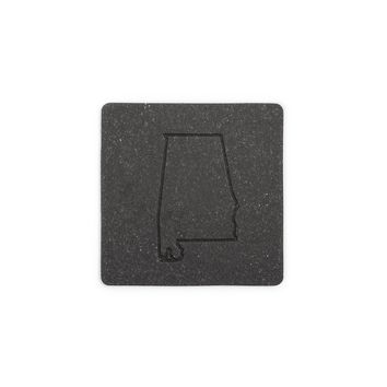 State Recycled Leather Coaster Set - Flint Leather