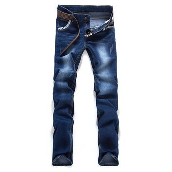 2017 new spring men's classic jeans ,men's straight jeans ,Men's cotton jean plus-size 28-36,free shipping