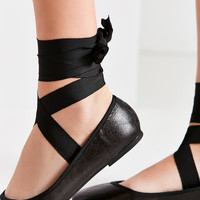 Grosgrain Lace-Up Ballet Flat | Urban Outfitters