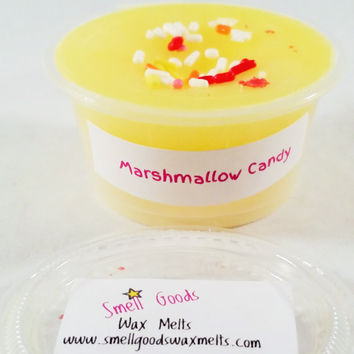 Marshmallow Candy Scented Wax Melt - Scent Shot - Wax Cup - Paraffin Tart - Sweet Bakery Scent - Marshmallow Fluff Scented