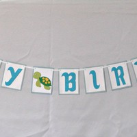 Under the Sea Ocean Happy Birthday Banner