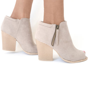 Pretty Balanced Booties In Taupe