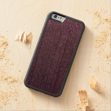 Cool Awesome Purple Glitter Carved® Cherry iPhone 6 Bumper Case