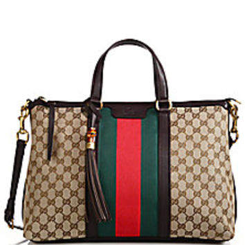 Gucci - Rania Original GG Canvas Medium Top-Handle Bag - Saks Fifth Avenue Mobile