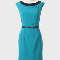 Hotel Brunch Belted Dress In Teal
