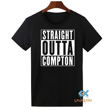 Straight Outta Compton NWA California GOTHIC Eazy E NWA Dr. Dre hip hop T-Shirts Mens Cotton Short Sleeve Summer Tee Shirt