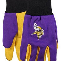 Forever Collectibles NFL Minnesota Vikings 2015 Utility Glove - Colored Palm
