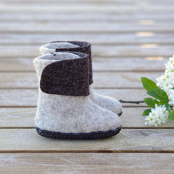 Felted kids shoes- baby wool shoes- ankle kids shoes- children shoes- warm kids boots- kids eco shoes- toddler wool shoes- felted baby boots