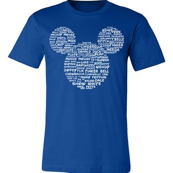 Name That Disney Character Adult Mickey Park Tee