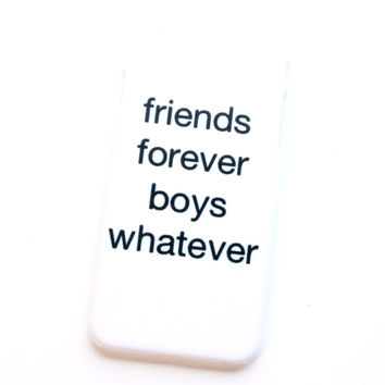 friends forever boys whatever iPhone Case
