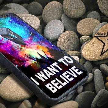 i want to believe tardis iPhone Case, iPhone 4/4S, 5/5S, 5c, Samsung S3, S4 Case, Hard Plastic and Rubber Case By Dsign Star 08