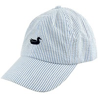 Limited Edition Seersucker Hat with Navy Duck by Southern Marsh