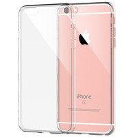 Plain Clear Transparent Case  Apple iPhone 6 / 6s Plus 4.7 5.5 Ultra Slim Crystal Clear Soft TPU Gel Cover